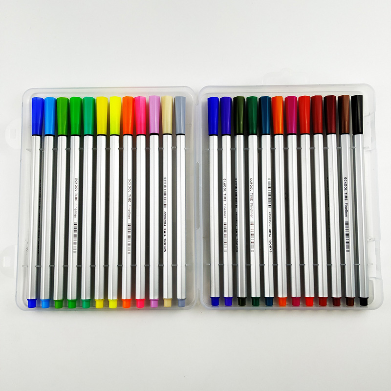 24 colors fineliner pen box set
