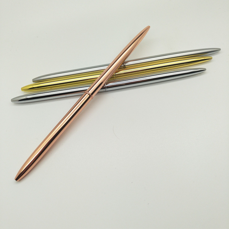 silver golden no clip metal pen