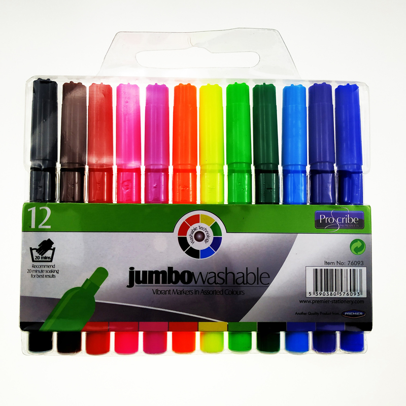 12 colors jumbo watercolor marker