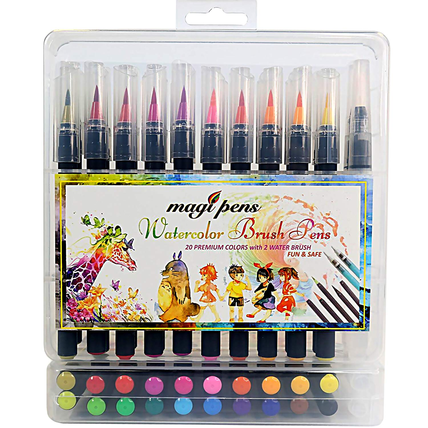 24 colors brush marker box set