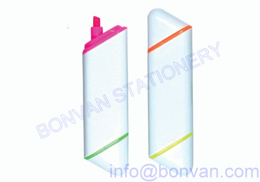 flat two color promotional highlighter marker