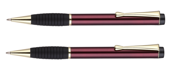 twist metal ball pen with grip