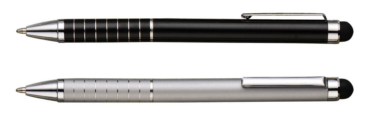 seven ring aluminum touch stylus ball pen