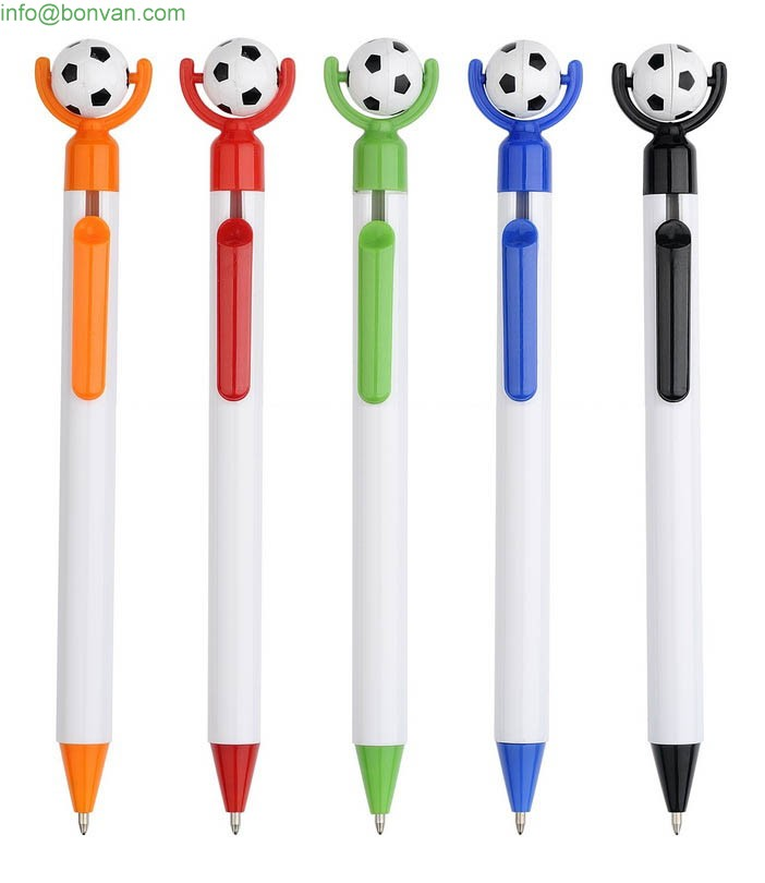 football plastic ball pen,football pen