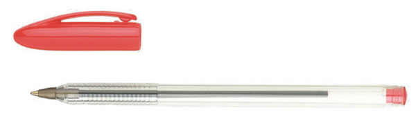 clear body ballpoint pen