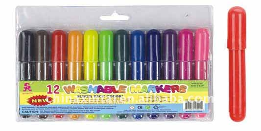 new design washable short watercolor marker